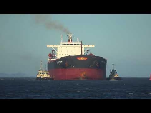 Ship Horn - Horn blast from bulk carrier ship 4K