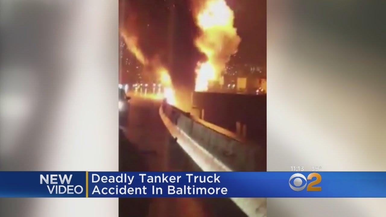 Caught On Camera: Tanker Truck Crash In Baltimore