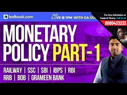 Monetary Policy Part 1| GA Guru - Abhijeet Sir | Important GK Notes For SSC | Banking | RRB | SBI