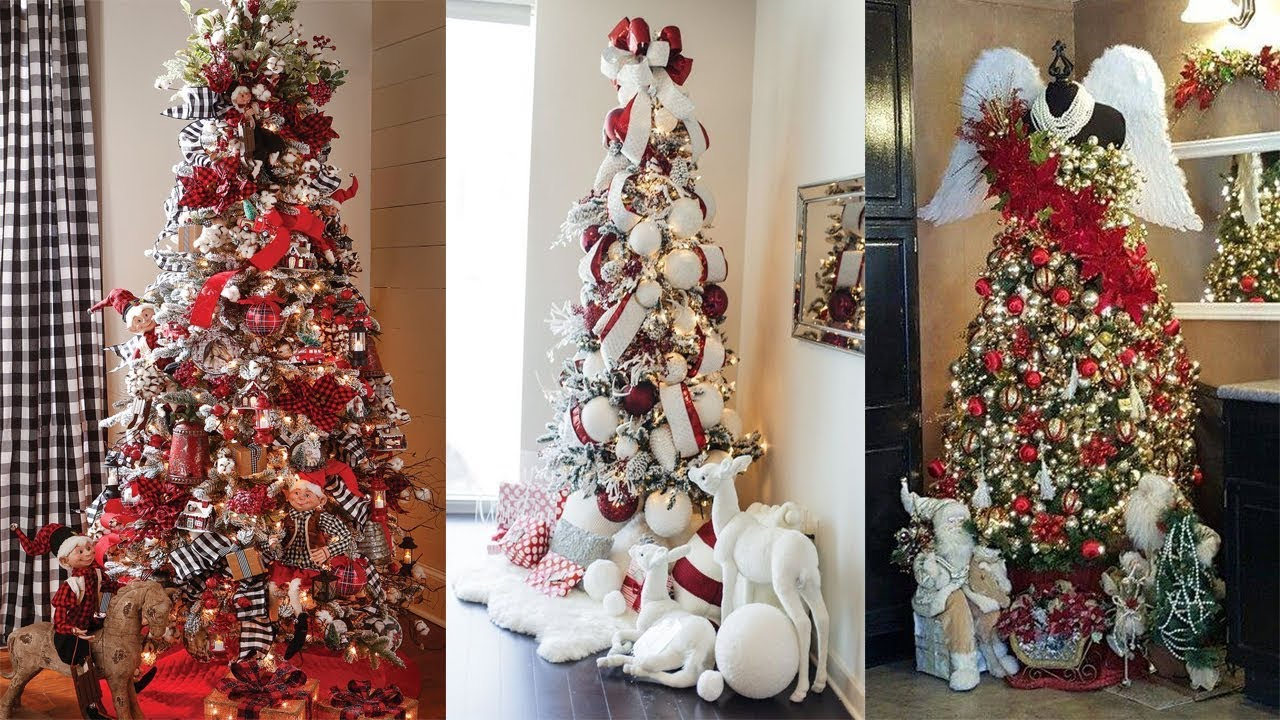 christmas home decoration 2017 60 christmas tree decorating design ideas 2017 10591
