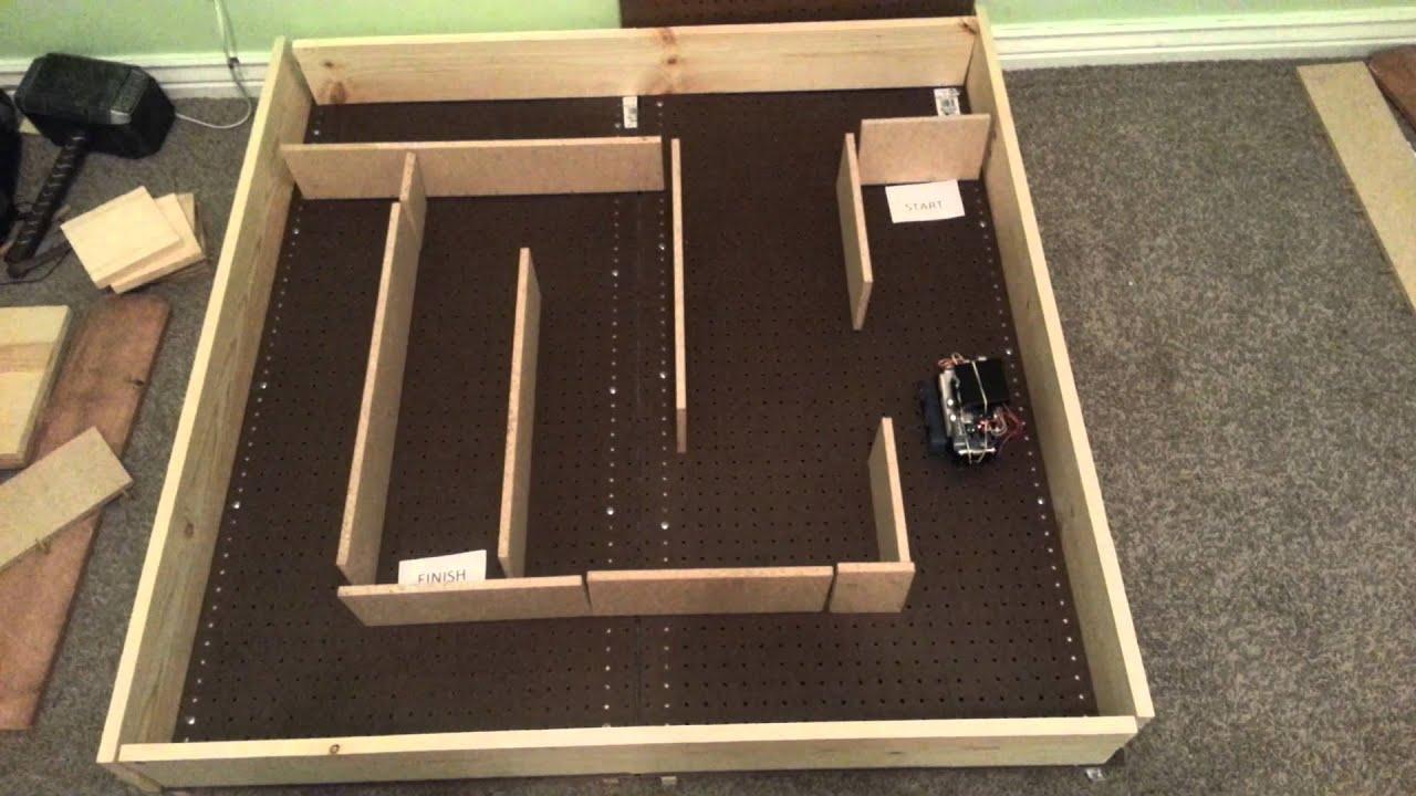 Arduino robot solves maze youtube