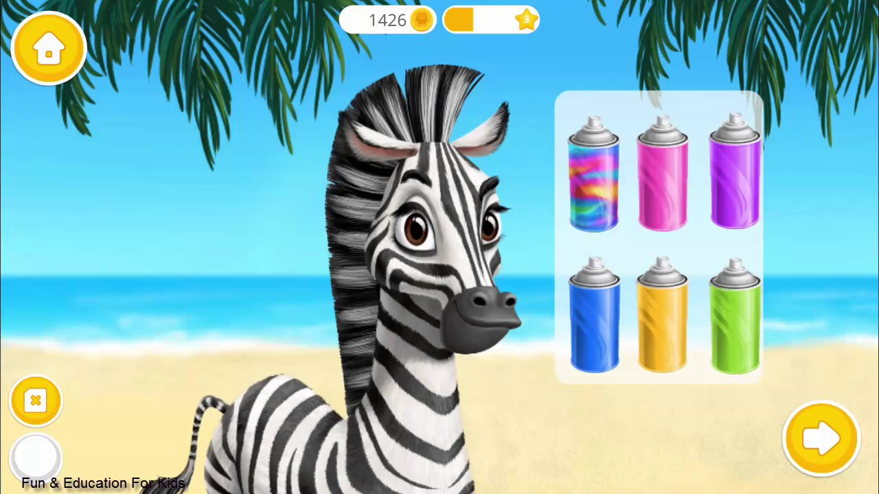 Fun Animals Care Makeover Bath Dress Up Kids Games For