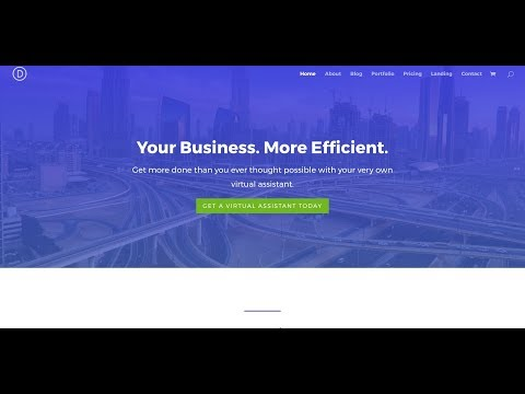 Divi Business Layout Pack - Virtual Assistant Use Case