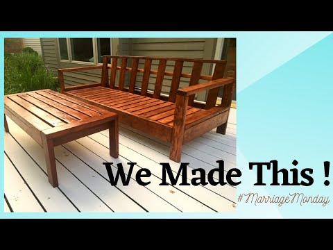 DIY outdoor sofa for under $200 Building Memories | Ana White inspired plans