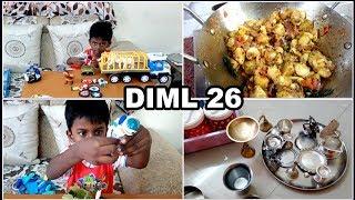 என் வாழ்வில் ஒருநாள் 26 / Bloopers / Sharwin Playing / Cooking / Pooja Vessels Cleaning / A Day Vlog