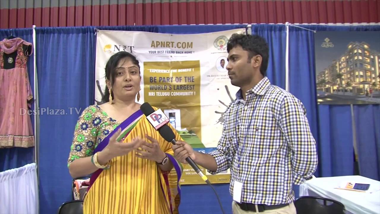 Roopa from AP NRT speaking to Desiplaza TV at ATA Convention,Chicago.