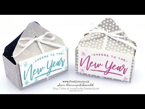 Envelope Punch Board Happy New Year Open Basket Tutorial - วันที่ 19 Dec 2018