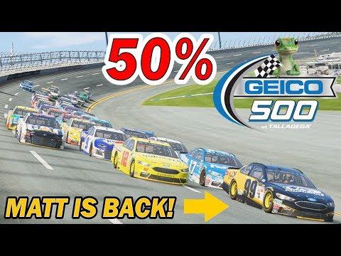 MATT KENSETH at ROUSH!!! -- CRAZY 50% TALLADEGA RACE -- NASCAR Heat 2 2018