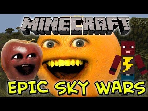 Annoying Orange Let's Play Minecraft - Midget Apple's Epic SkyWars
