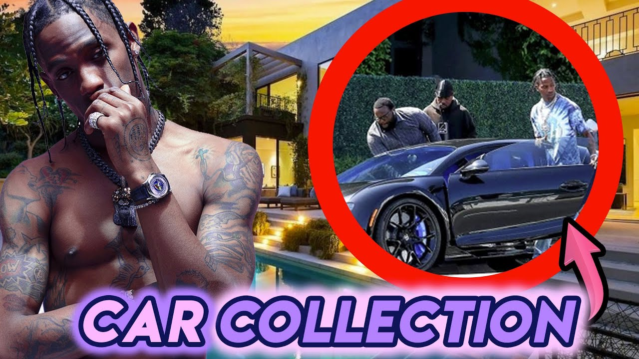 Travis Scott | Car Collection | Bugatti Chiron, Lamborghini Huracan, Lamborghini Aventador, Ferrari