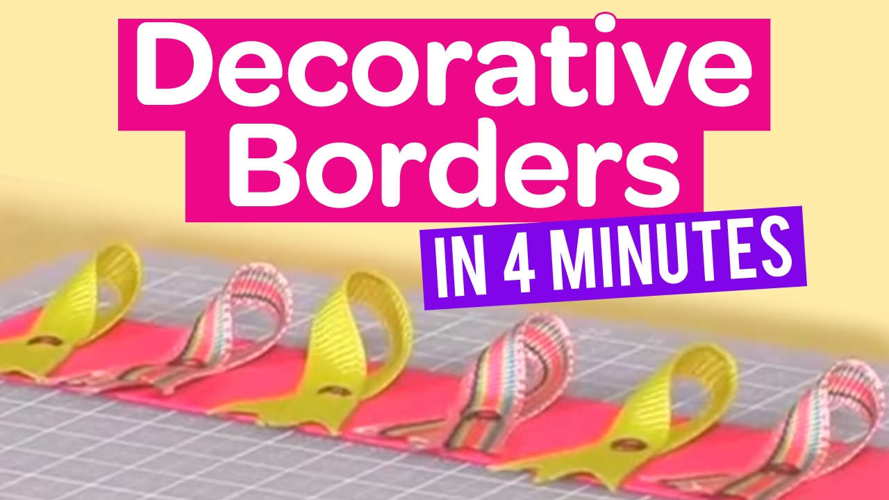 How to create decorative borders in minutes also youtube rh
