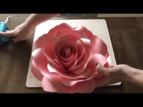 Ann's Medium Paper Rose Tutorial