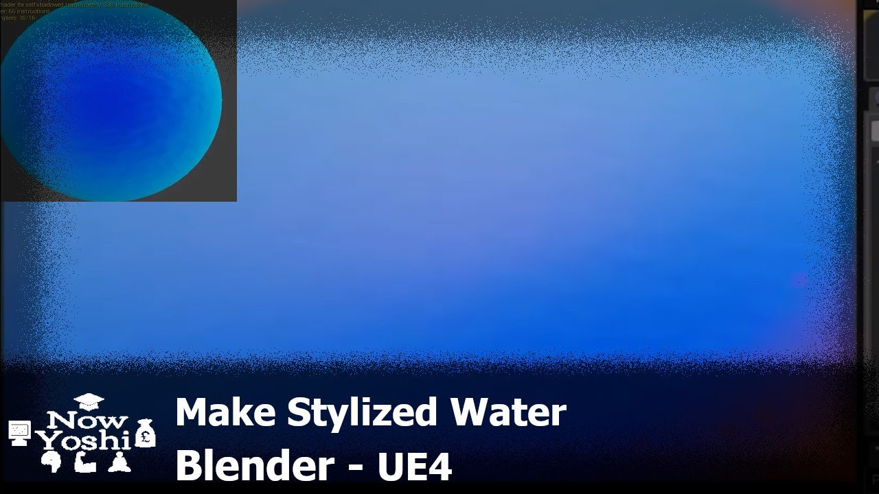 Tutorial - Stylized water - Reduced tilling - Fade at edges - Unreal engine  4