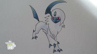 How to draw Pokemon: No. 359 Absol