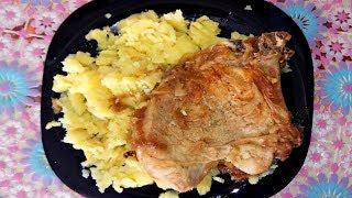 Свиная отбивная, жареная на сковороде! Рецепт!