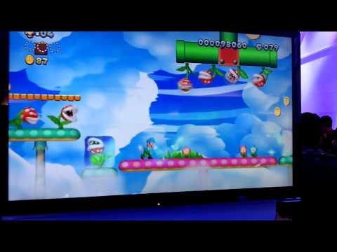New Super Luigi U: 1-4 Pirhana Heights Gameplay Footage (E3 2013)