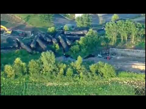 Crude Oil Train Derails in Suburban Plainfield, Illinois.