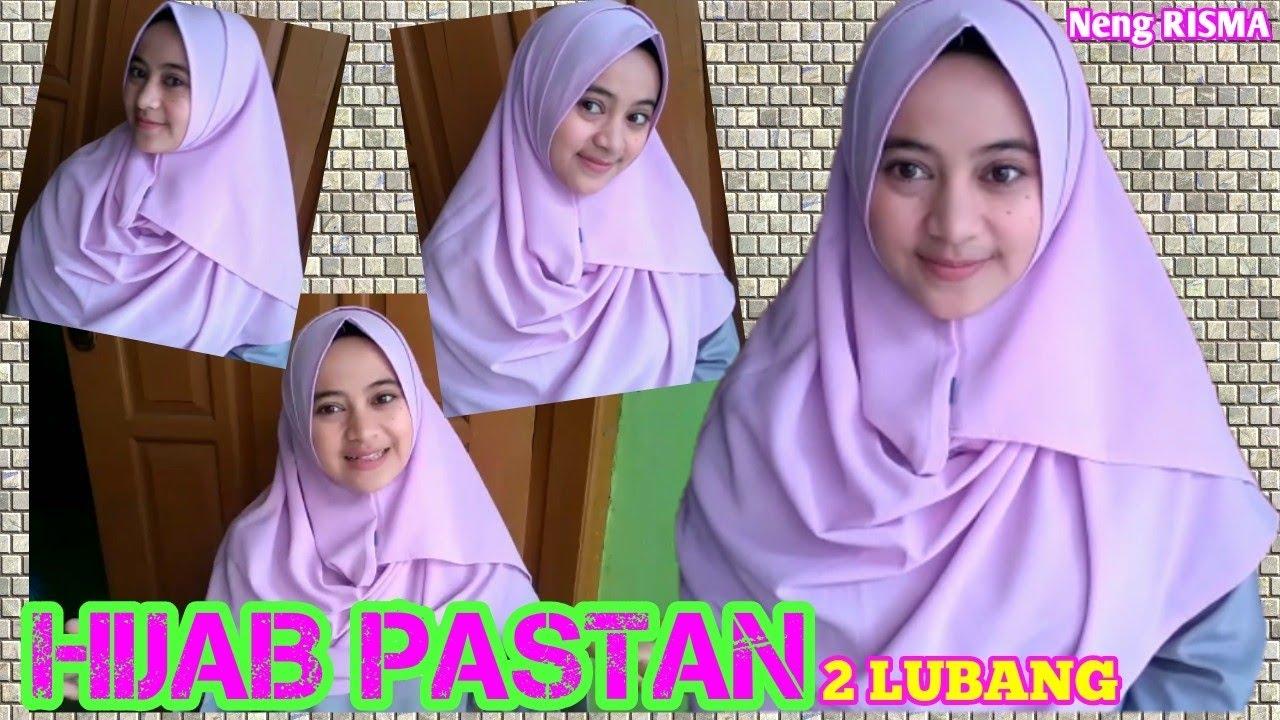 Cara Memakai Hijab Pastan 2 Lubang Simple Praktis Dan Tampil Cantik Pashmina Instan Youtube
