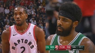 Kawhi Leonard Shows Kyrie Irving He's The King Of The East and Gets MVP Chants! Celtics vs Raptors