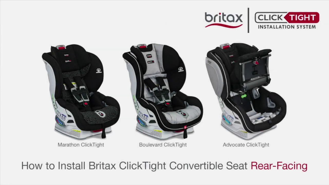 Convertible Car Seat: How To Install A Britax ClickTight Convertible Car Seat