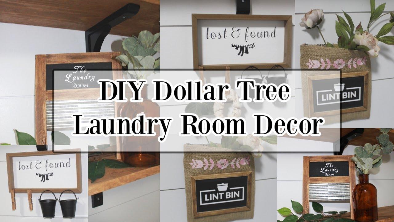 Diy Dollar Tree Laundry Room Decor Cricut Joy Projects Youtube