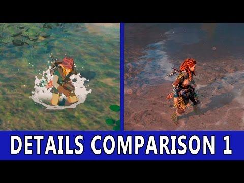 Make Zelda Breath of The Wild VS Horizon Zero Dawn | Details Comparison 1 Images