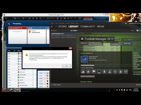 Football manager 2015 or 14 Crash dump error on start up ! Fix easy part 1