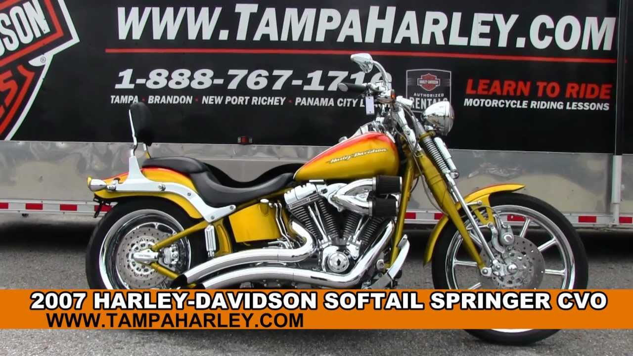 Used 2007 harley davidson fxstsse cvo softail springer for sale