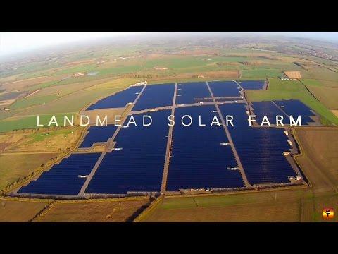 Time-lapse & drone-lapse construction film of UK's largest solar farm in 2014, Landmead, Oxfordshire