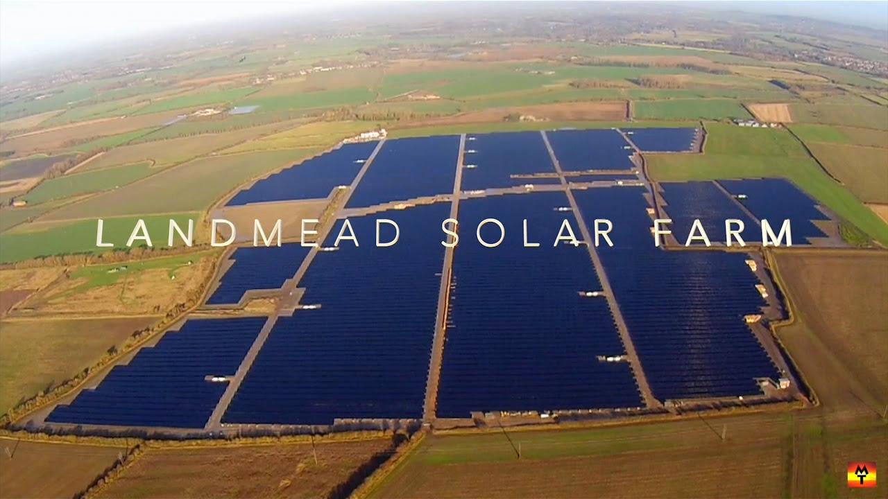 Construction of UKs largest solar farm in Oxfordshire