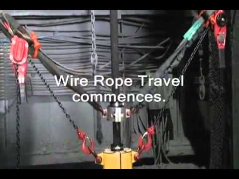 Kirkpatrick Wire Rope Lubrication Systems Model JU16L: Mine Hoist  - Carlin, Nevada