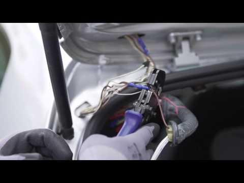 Einbau SenCom Reparatursatz Kabelbaum Beim VW Golf V Heckklappe