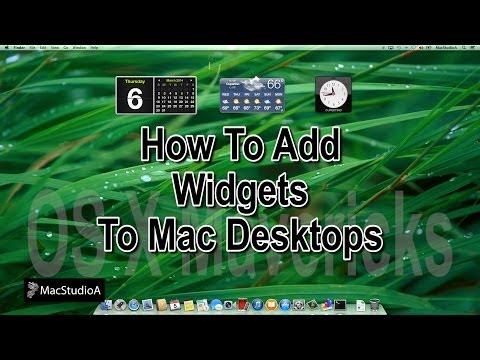 How To Add Widgets To Mac Desktops OS X Mavericks
