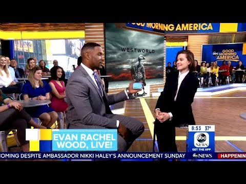 Evan Rachel Wood Chats Season 2 Westworld Premiere - GMA