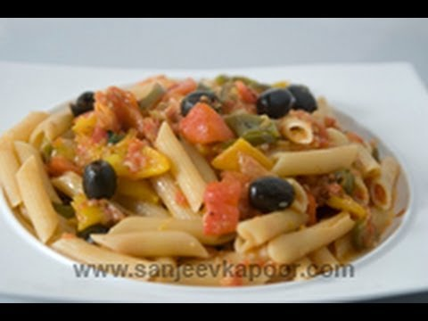 Penne with Roasted peppers