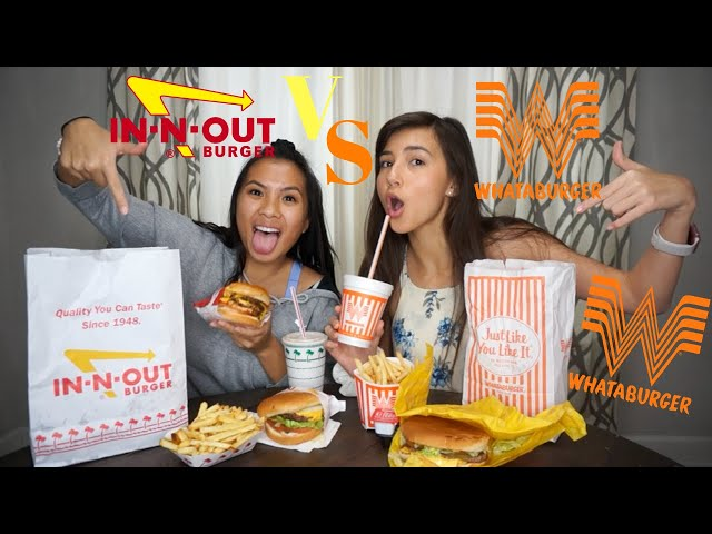 In-N-Out VS Whataburger BLINDFOLDED