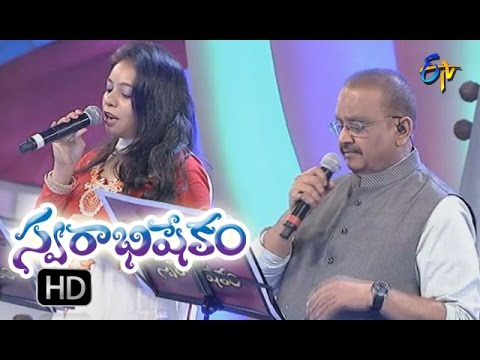 Nelamedha Jabili Song | SP Balu,Sri lekha Performance | Swarabhishekam | 25th Sep'16 | ETV Telugu