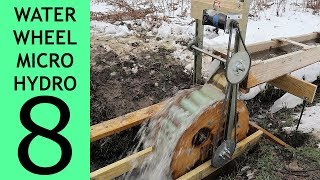 [Part 8 of 10] Waterwheel Microhydro, More Volts