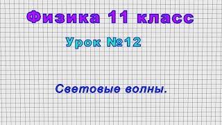 Физика 11 класс (Урок№12 - Световые волны.)