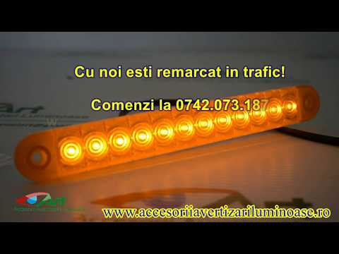 Lampa Pozitie LED Galben 225mm 12v-24v FT-195 Z Fristom