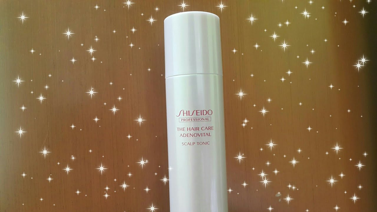 Shiseido The Hair Care Adenovital Scalp Tonic Unboxing Youtube Shampoo And