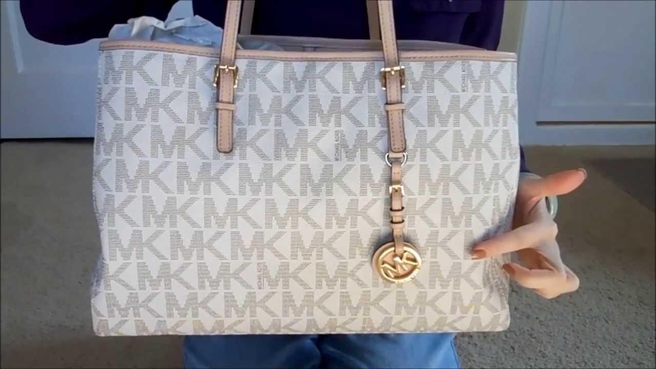 4dfdc69e4721b7 A closer look at Michael Kors tote bag - YouTube