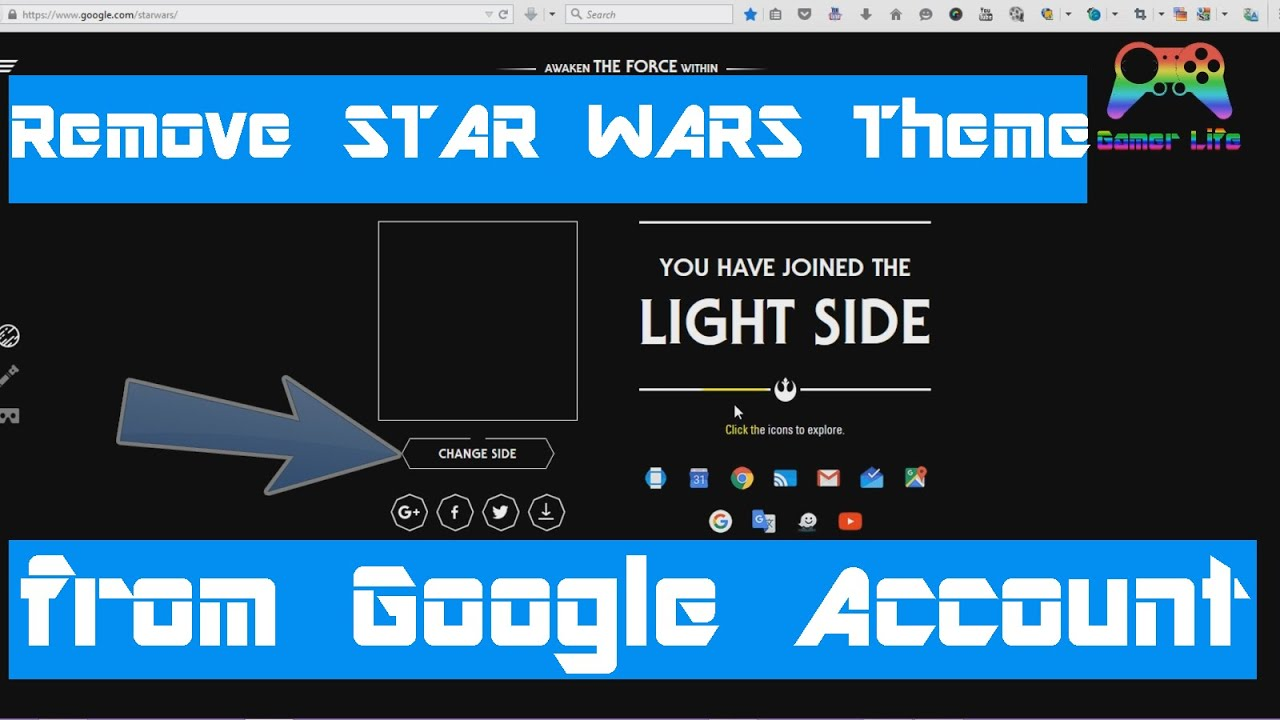 Google themes delete - How To Remove Star Wars Experience From Google Account Or From Youtube Videos