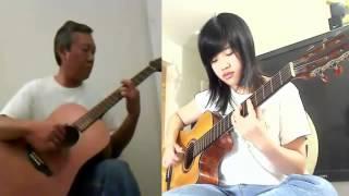 Cỏ Xót Xa Đưa - Song Tấu Guitar