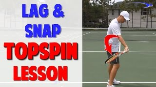 Topspin Forehand Series Video 4   Lag and Snap (Top Speed Tennis)