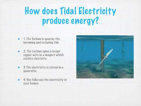 Tidal Energy - Science Project