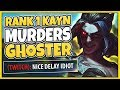 #1 KAYN WORLD VS. CHALLENGER GHOSTER! RANK 1 KAYN VS. CHEATING TROLL - League of Legends