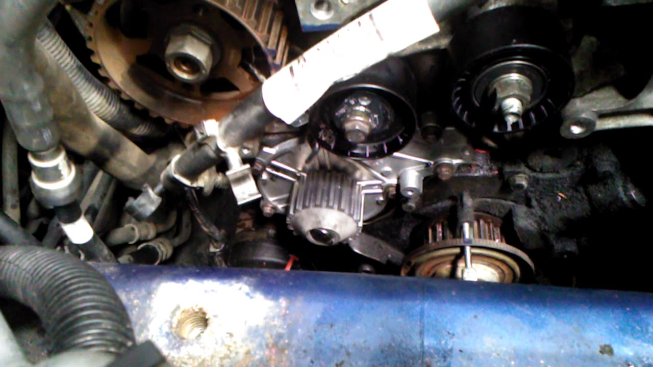 Image Of Ford Focus Diesel Cambelt Or Chain Timing Belt Change On 2012 Water Pump Tensioner Accessory And