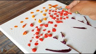 Red Forest / Abstract Painting Demonstration / Easy & Satisfying / Project 365 days / Day $0356