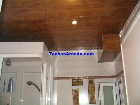 Techos forrado de madera youtube for Como encielar un techo